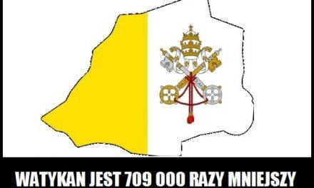 Ile razy Watykan jest mniejszy od Polski?
