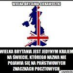 Nazwa którego kraju nie pojawiła się na znaczkach pocztowych Wielkiej Brytanii?