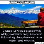Który szczyt jako pierwsi zimą zdobyli Artur Hajzer i Jerzy Kukuczka w 1987 roku?