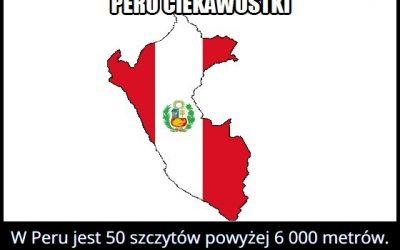 Ile w Peru jest szczytów mających ponad 6000 metrów?