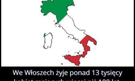 Ile jest we Włoszech kobiet mających ponad 100 lat?