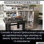 Co ile lat o jedną sekundę spóźnia się najdokładniejszy zegar atomowy?