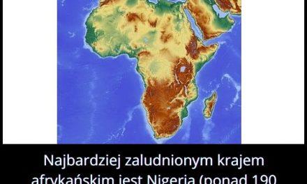 Jaki kraj jest najbardziej zaludniony w Afryce?