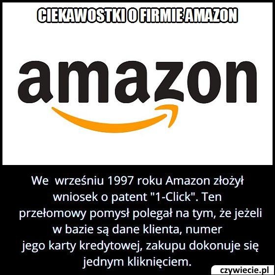 """Kiedy Amazon   zgłosił patent """"1-Click""""?"""