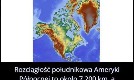 Jaką długość i szerokość ma Ameryka Północna?