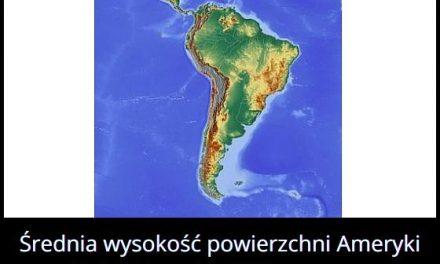 Jaką średnią wysokość ma Ameryka Południowa?