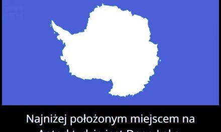 Ile metrów pod poziomem morza znajduje się najniżej położone miejsce na Antarktydzie?