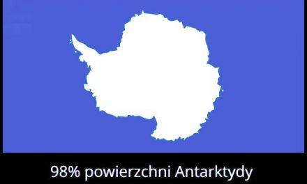 Jaki procent powierzchni Antarktydy pokrywa lód?