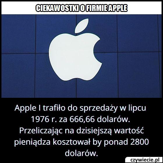 W którym roku   do sprzedaży trafił pierwszy produkt Apple?