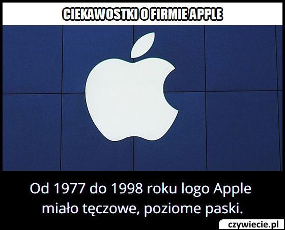Logo której znanej firmy od 1977 do 1998 roku miało tęczowe paski?