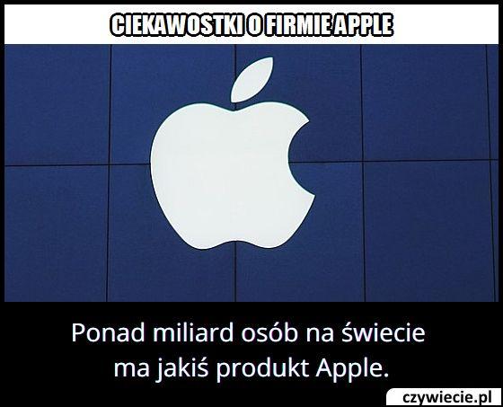Ile osób na świecie ma przynajmniej jeden produkt firmy Apple?