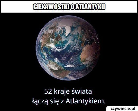 Ile krajów   łączy się z Atlantykiem?