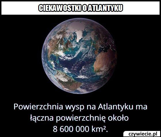 Jaką   powierzchnię mają wyspy na Atlantyku?