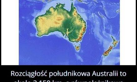 Jaką długość i szerokość ma Australia?