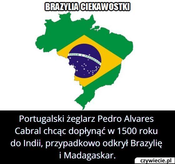 Jakie kraje   odkrył przypadkowo Pedro Alvares Cabral płynąc do Indii?