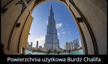 Jaką powierzchnię ma Burdż Chalifa?