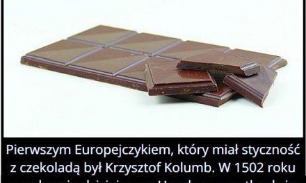 Który   Europejczyk jako pierwszy miał styczność z czekoladą?