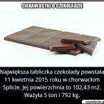 Ile ważyła   największa na świecie tabliczka czekolady?