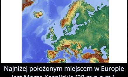 Najniżej położonym miejscem w Europie jest…?