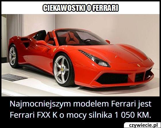 Ile koni mechanicznych ma Ferrari FXX K?