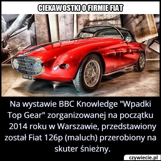 """W jakiej formie przedstawiony został Fiat 126 p w programie """"Wpadki Top Gear""""?"""