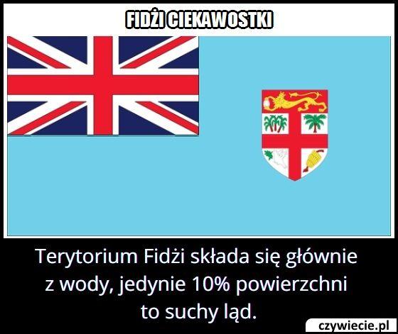 Ile procent   terytorium Fidżi stanowi ląd?