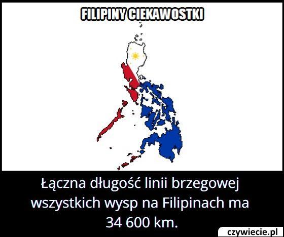 Jaką długość ma linia brzegowa wszystkich wysp na Filipinach?