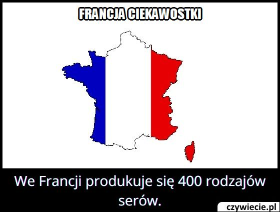 Ile   rodzajów serów produkuje się we Francji?