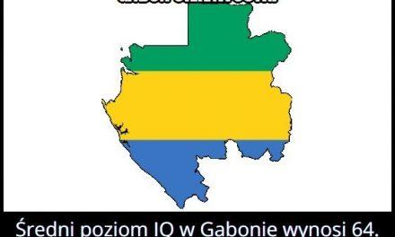 Ile wynosi   średni poziom IQ w Gabonie?