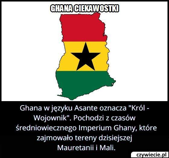 Co oznacza nazwa Ghana?