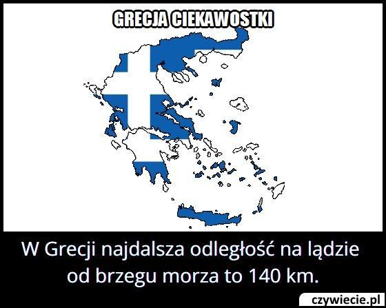 W Grecji najdalsza odległość na lądzie od brzegu morza to…?