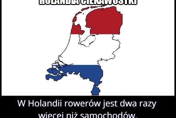 W Holandii jest więcej samochodów czy rowerów?