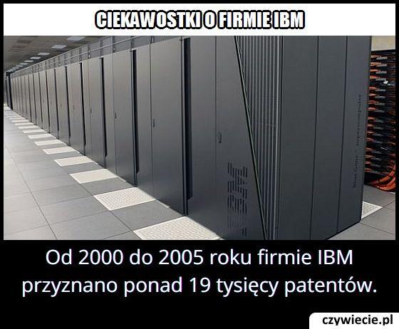 Ile patentów   przyznano firmie IBM od 2000 do 2005 roku?