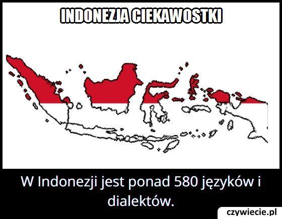 Ile języków i dialektów jest w Indonezji?