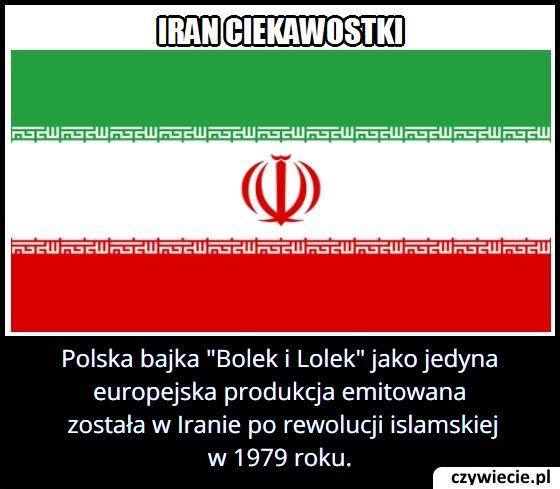 Która Polska bajka emitowana była w Iranie po 1979 roku?