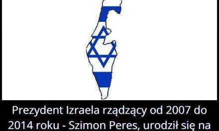 Skąd pochodził były prezydent Izraela Szimon Peres?