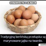 Jaka jest   tradycyjna berlińska przekąska zrobiona z jajek?