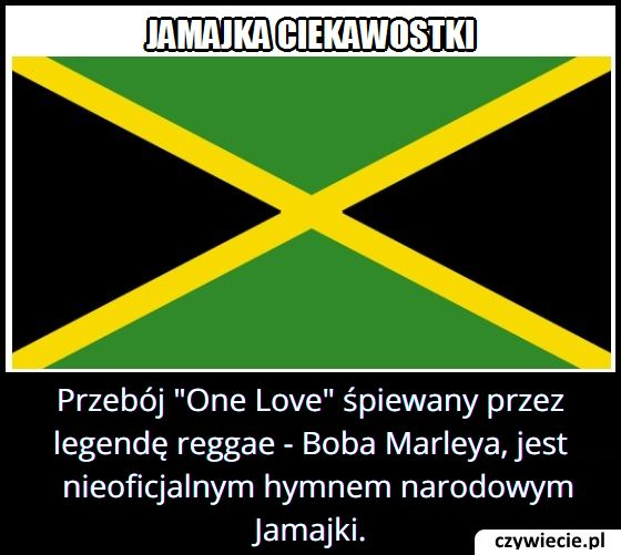Jaki przebój jest nieoficjalnym hymnem Jamajki?