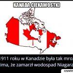 W którym roku   zamarzł wodospad Niagara?
