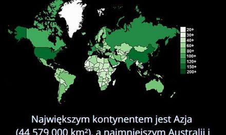 Który kontynent jest najmniejszy?