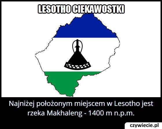 Jakie jest   najniżej położone miejsce w Lesotho?