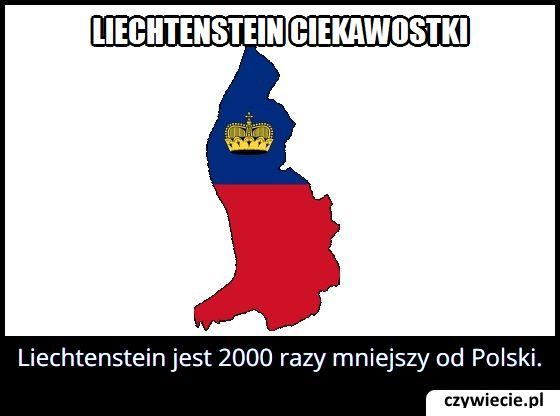 Ile razy Liechtenstein jest mniejszy od Polski?
