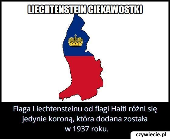 Czym różni się flaga Liechtensteinu od flagi Haiti?