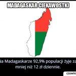 Ile procent osób żyje na Madagaskarze za mniej niż 12 zł dziennie?