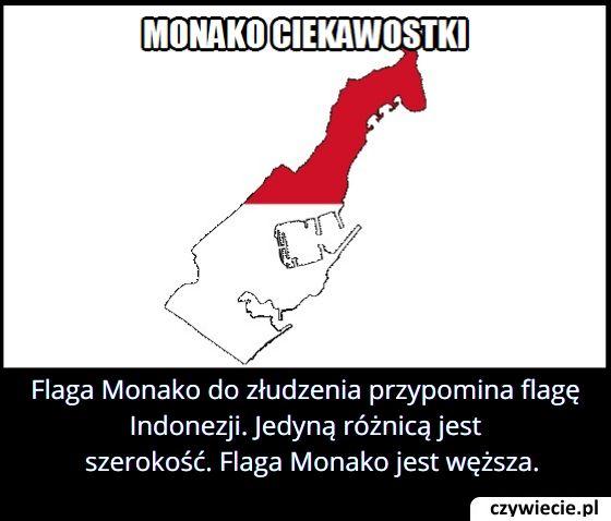Flaga którego państwa różni się tylko szerokością od flagi Monako?