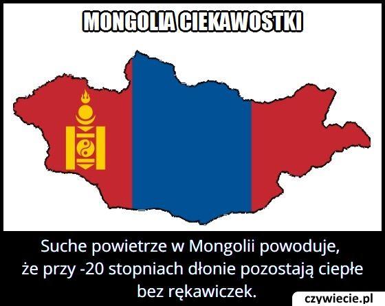 Dlaczego w   Mongolii przy -20 stopniach nie trzeba nosić rękawiczek?