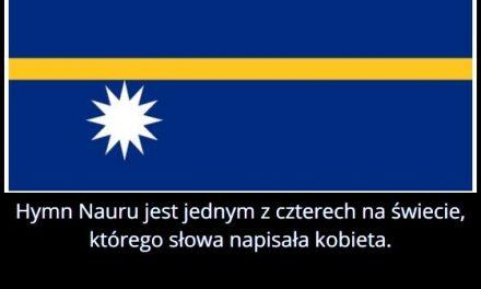 Czym wyróżnia się hymn Nauru?