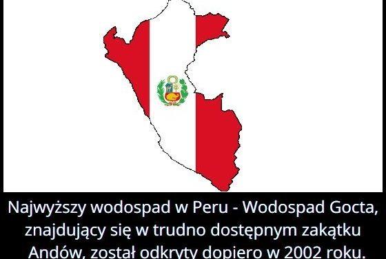 Jaką wysokość   ma najwyższy wodospad w Peru?