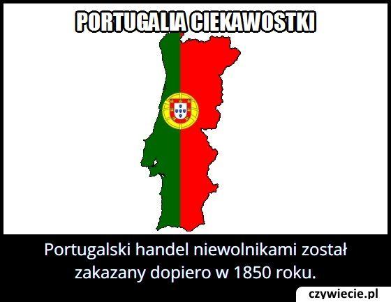 W którym roku w Portugalii zakazano handlu niewolników?
