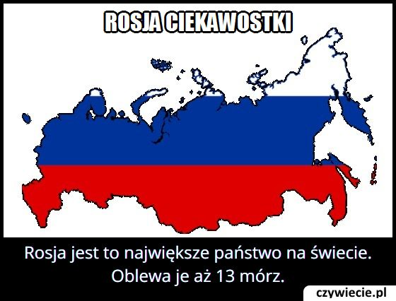 Ile mórz oblewa Rosję?